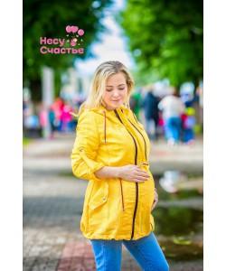 """Ветровка """"Стиляги"""" желтая для беременных и слингоношения"""