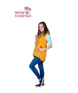 Жилет для беременных Горчица - женская верхняя одежда