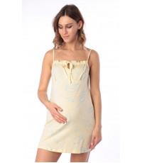 Сорочка для беременных и кормящих мам, желтый