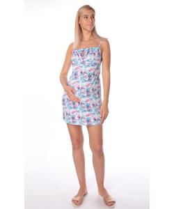 Сорочка для беременных и кормящих мам, бордо