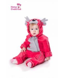 """Комбинезон """"Оленёнок"""" розовый - детские комбинезоны"""