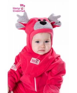 """Шлем """"Оленёнок"""" розовый - детская одежда"""