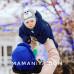 Шлем флисовый Мишка серый - детская одежда