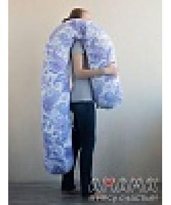"""Подушка для беременных """"Можно положиться 270см"""" голубые вензяля- подушка для беременных и кормящих мам"""