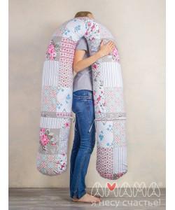 """Подушка для беременных """"Можно положиться 270см"""" пэчворк-подушка для беременных и кормящих мам"""