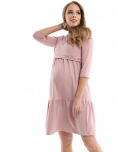 """Платье """"Слава"""" - пудра - для беременных -одежда для будущих и кормящих мам"""