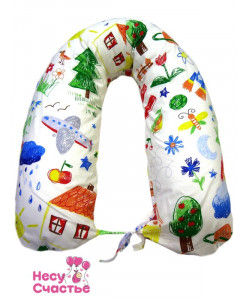 """Подушка-U для беременных и кормящих мам """"Радуга""""+ подарок"""