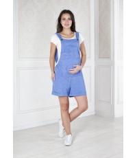 Голубой комбинезон для беременных на лето