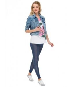Леггинсы  синий джинс для беременных-леггинсы для беременных
