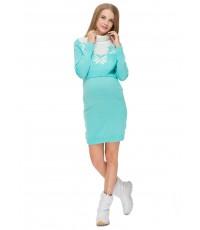 """Платье """"Фрост"""" лазурь для беременных и кормящих"""