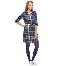 """Платье """"Кристен"""" т.синее для беременных и кормящих"""