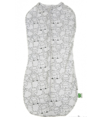 Пеленка-кокон (комбинезон), белый
