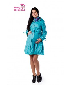 Плащ для беременных бирюза - одежда для беременных