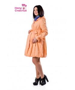 Плащ для беременных персик - одежда для беременных