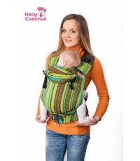 """Слинг рюкзак """"Несу счастье"""" Ellevill Zara Tricolor Green"""