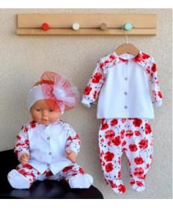 """Комплект для девочки """"Маки""""-детская одежда"""