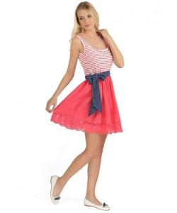 """Платье """"Любаша"""" коралл для кормящих-одежда для будущих и кормящих мам"""