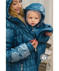 Слингокуртка зимняя Diva Outerwear Azzurro- одежда для беременных