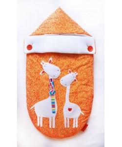 Конверт на выписку жирафы, оранжевый - конверты на выписку