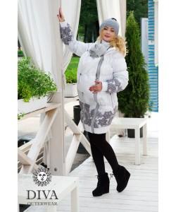 Слингокуртка зимняя Diva Outerwear Bianco - одежда для беременных