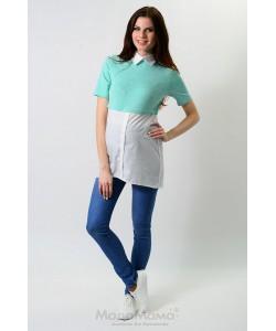 Блузка бирюза-одежда для беременных