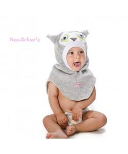 """Шлем """"Совёнок"""" серый меланж - детская одежда"""