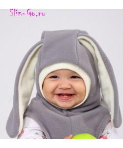 """Шлем флисовый """"Зайка"""" - детская одежда"""