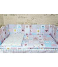 Комплект в кроватку ГОРОХ со съемными чехлами