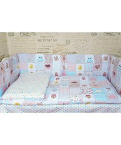 Комплект в кроватку ГОРОХ со съемными чехлами - все в кроватку