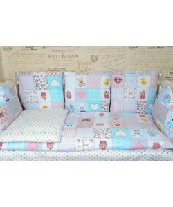 Комплект в кроватку с подушками ГОРОХ - все в кроватку