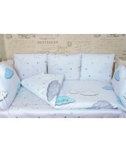 Комплект в кроватку с подушками ОБЛАКА - все в кроватку