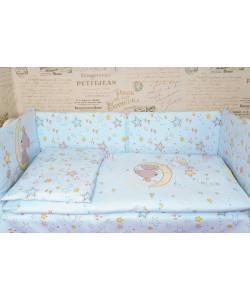 Комплект в кроватку ЗВЕЗДЫ со съемными чехлами - все в кроватку