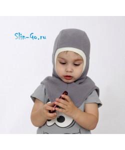 Шлем флисовый серый - детская одежда
