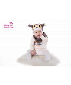 Шлем флисовый Севёнок серый - детская одежда