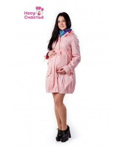 Плащ для беременных розовый - одежда для беременных