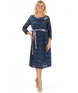 """Платье """"Антония"""" синий гипюр для беременных-одежда для будущих и кормящих мам"""