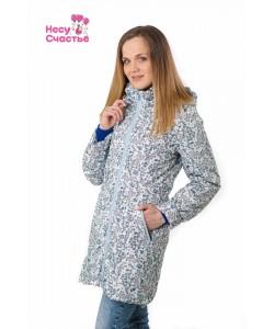 """Куртка деми. 3 в 1 """"Селяви"""" весенняя полянка- одежда для беременных"""