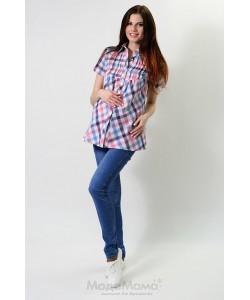 Блузка в клетку-одежда для беременных