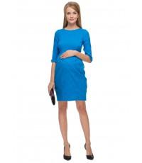 """Платье """"Акация"""" синее для беременных и кормящих"""