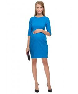 """Платье """"Акация"""" синее для беременных и кормящих-одежда для будущих и кормящих мам"""