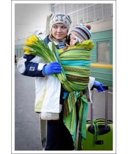 Слинг-шарф Ellevill Zara Tricolor Green-слинг шарфы