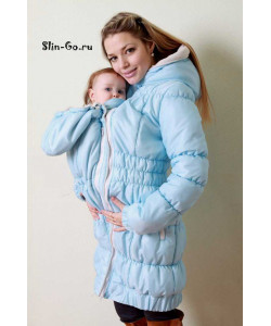 """Куртка для беременных и слингоношения зимняя """"Лора"""" голубая - одежда для беременных"""