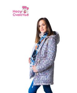 """Куртка зимняя 3 в 1 """"Парка"""" весенняя полянка- одежда для беременных"""