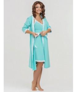 Комплект в роддом Grace: халат + ночная сорочка-одежда для беременных и кормящих