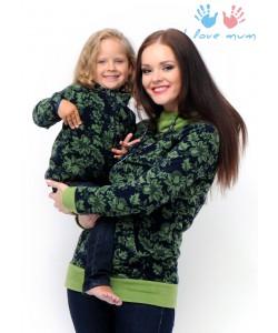 """Джемпер """"Френки"""" орнамент зеленый для беременных и кормящих - женская одежда"""
