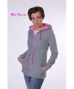 Слингокофта (серо-розовая) - женская одежда