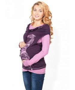 """Туника-двойка """"Модная мама"""" баклажан для беременных и кормящих  - женская одежда"""