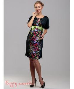 Платье  для беременных в цветы-одежда для будущих и кормящих мам
