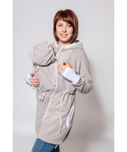 """Слингокуртка """"Леона"""" серый меланж - женская верхняя одежда"""
