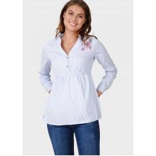 """Блузка """"Эсмира"""" для беременных и кормящих; цвет: голубой"""
